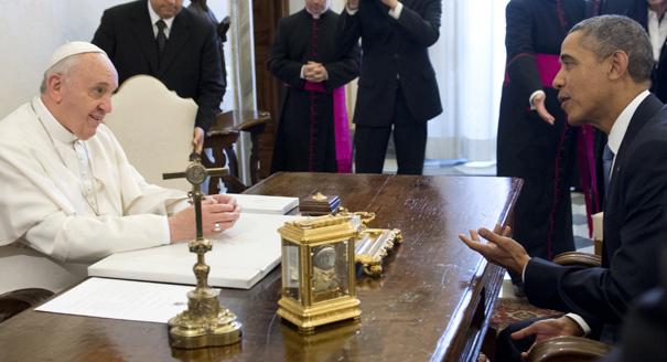 Tổng thống Obama và Giáo hoàng Phanxicô tại Vatican, 2014