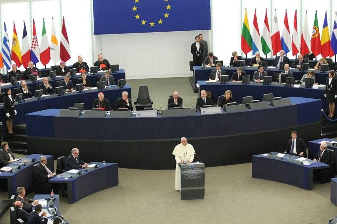 Giáo hoàng Phanxicô tại Nghị viên Châu Âu