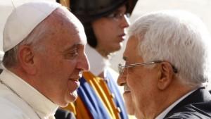 Giáo hoàng Phanxicô và tổng thống Mahmoud Abbas của Palestine