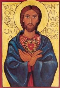 Sacred Heart contemporary icon