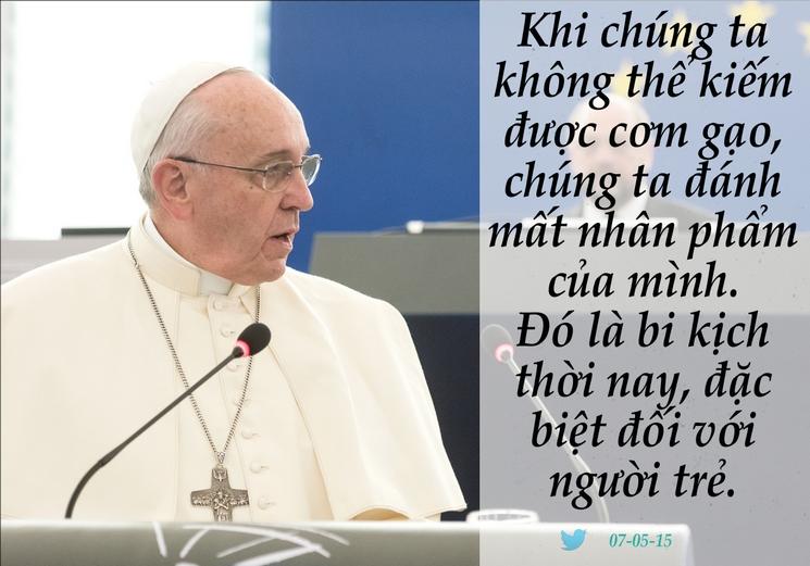 Tweet của Giáo hoàng Phanxicô 07-5-2015