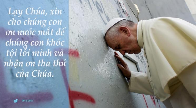 Tweet của Giáo hoàng Phanxicô 09-4-2015