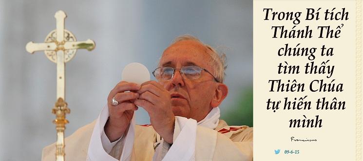 Tweet của Giáo hoàng Phanxicô 09-6-2015
