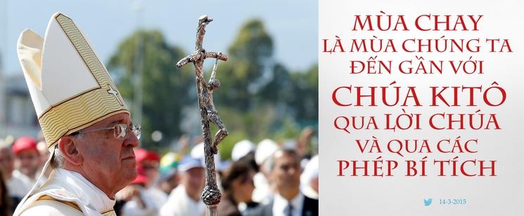 Tweet của Giáo hoàng Phanxicô 14-3-2015