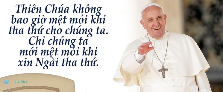 Tweet của Giáo hoàng Phanxicô 14-4-2015