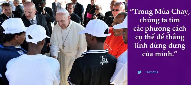Tweet của Giáo hoàng Phanxicô 17-2-2015