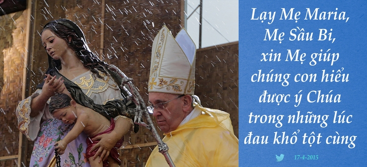 Tweet của Giáo hoàng Phanxicô 17-4-2015