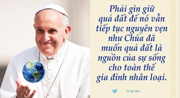 Tweet của Giáo hoàng Phanxicô 21-04-2015 02