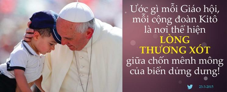 Tweet của Giáo hoàng Phanxicô 23-3-2015