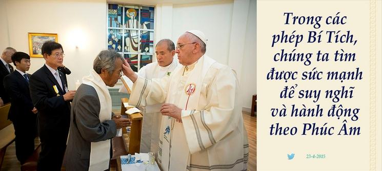 Tweet của Giáo hoàng Phanxicô 23-4-2015