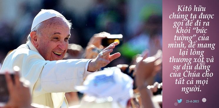 Tweet của Giáo hoàng Phanxicô 25-4-2015