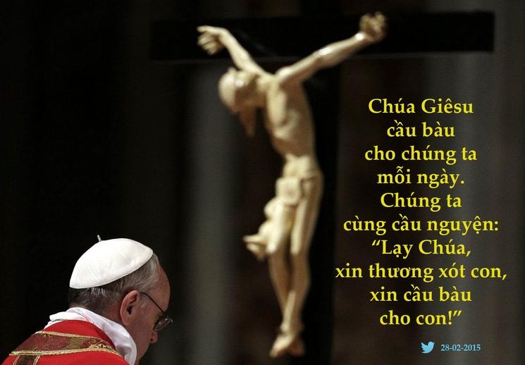 Tweet của Giáo hoàng Phanxicô 28-02-2015