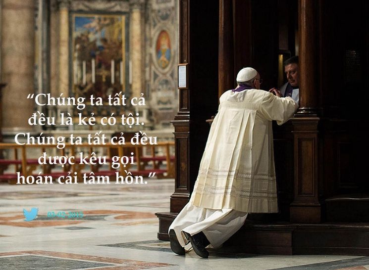 Tweet của Giáo hoàng Phanxicô 3-2-2015