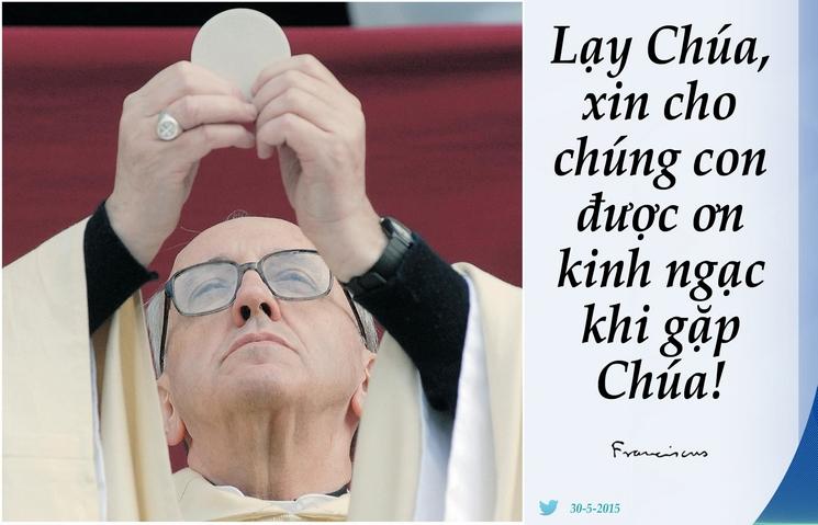 Tweet của Giáo hoàng Phanxicô 30-5-2015