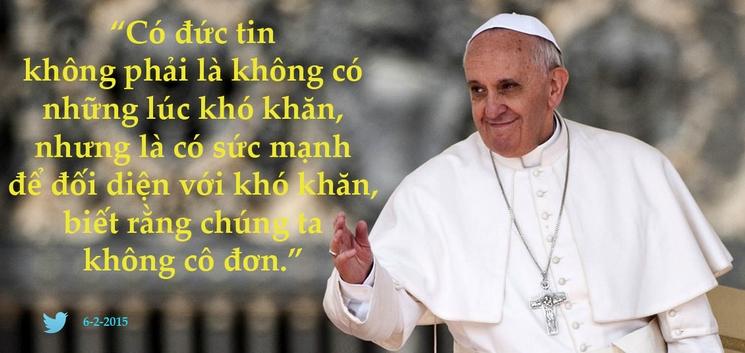 Tweet của Giáo hoàng Phanxicô 6-2-2015