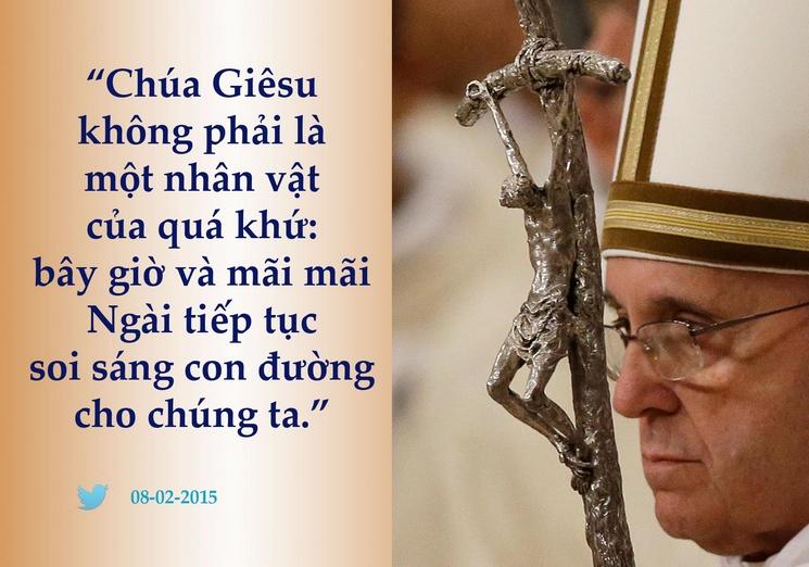Tweet của giáo hoàng Phanxicô 08-02-2015