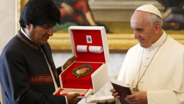 Tổng thống Bolivia, Evo Morales gặp giáo hoàng tại Vatican