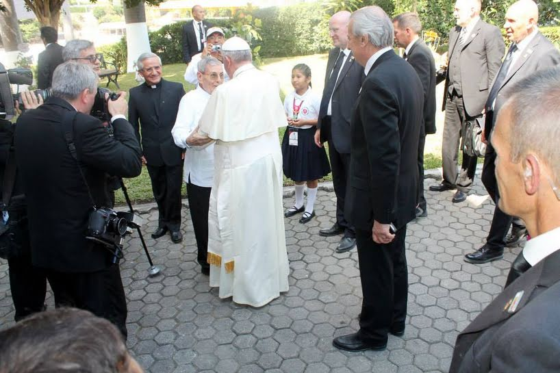 Pope Francis Meets With Brother Jesuits in Ecuador