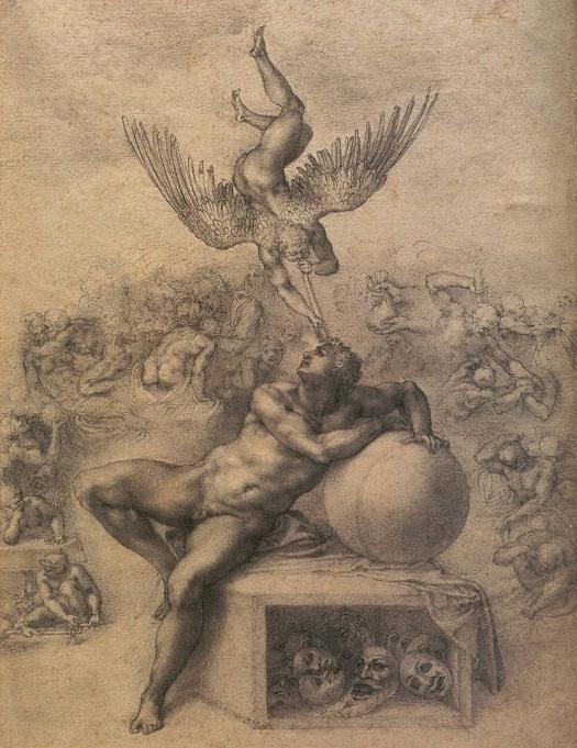 Bức họa: Giấc mơ đời người của Michelangelo