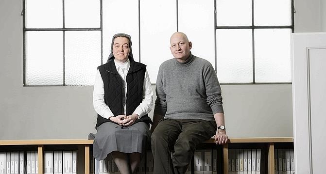 Nữ tu Anne-Véronique Rossi và Ông Daniel Pittet