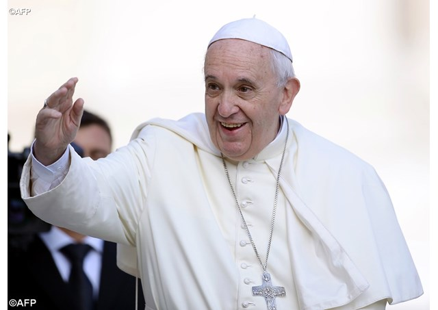 Pope urges closer cooperation to tackle climate change