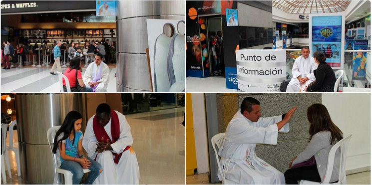 'Confess-a-thon' at Colombian mall draws 350 priests