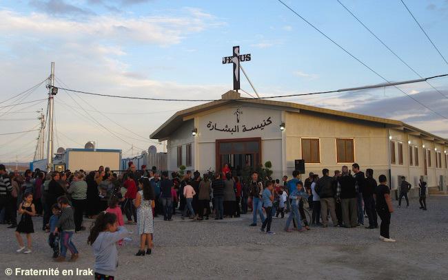 Nhà thờ Truyền Tin, ngôi nhà thờ mới ở trại tị nạn Ashti (Irak), khánh thành ngày 5 tháng 11-2015