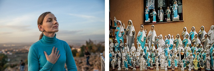 Picture of Anna Pidlisna of Ukraine who came to Medjugorje after receiving a vision of Mary