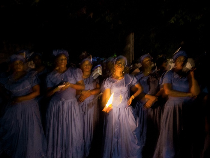 Picture of Haitian dancers honoring the Black Madonna