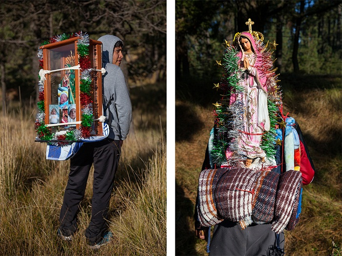 Pictures of pilgrims on their way to visit the shrine of Our Lady of Guadalupe in Mexico City 3