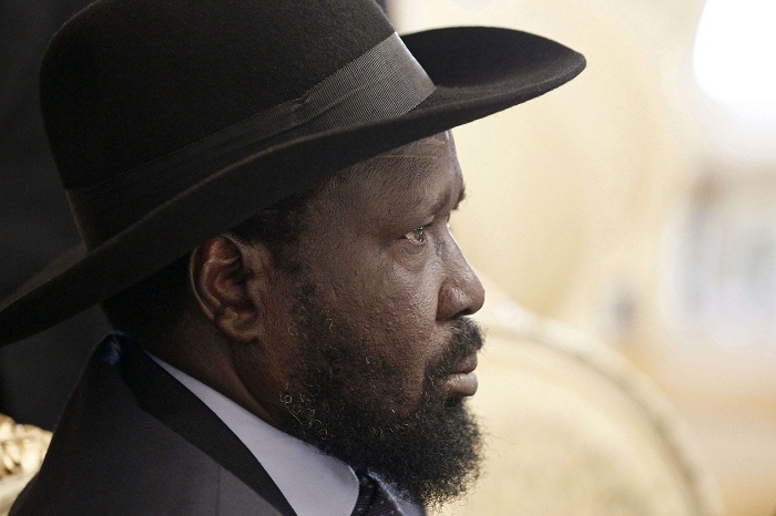 South Sudan's President Salva Kiir attends the 28th Extraordinary Summit of the IGAD Head of State and Government in Addis Ababa
