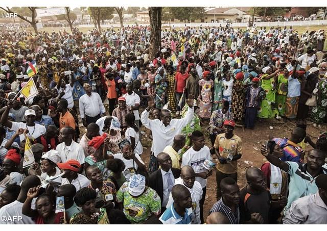 bài nói chuyện với người trẻ Bangui
