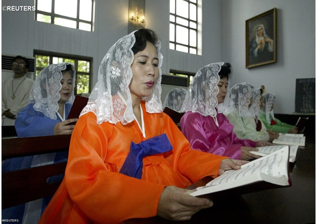 Tại nhà thờ Công giáo Bình Nhưỡng