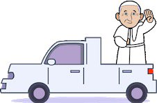 pope car