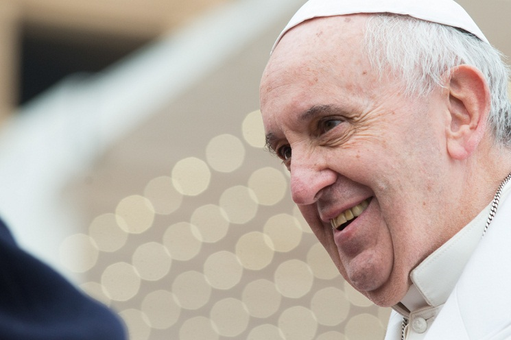 Pope Francis General Audience - Happy