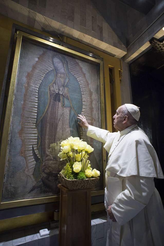 Đức Phanxicô kính Đức Mẹ Guadalupe