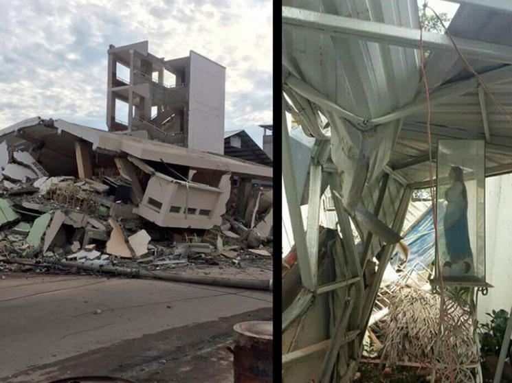 Đức Mẹ Maria thì mạnh hơn là trận động đất ở Ecuador