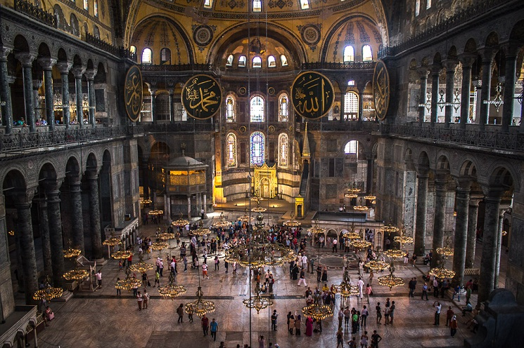Haga Sophia, nhà thờ Kitô giáo bị biến thành đền thờ Hồi giáo, ở Istanbul